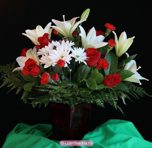 Букет с лилиями - идеальный букет